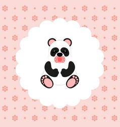 panda baby flat vector image