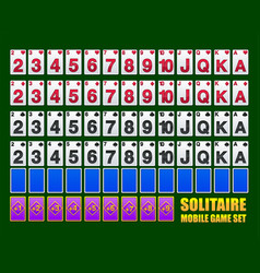 Playing cards for solitaire or poker games vector