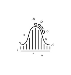 Roller coaster line icon amusement park sign vector