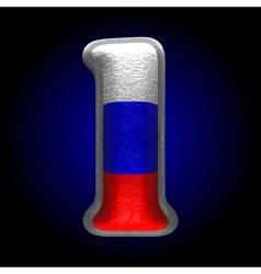 Russian metal figure 1 vector