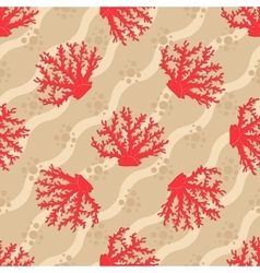 Seamless patterns with corals vector image