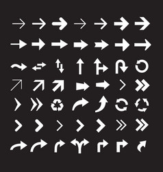 set of arrow icons version 3 vector image