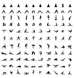 Silhouettes yoga vector