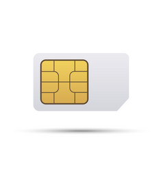 simcard icon on white vector image