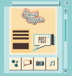 social media marketing with speech bubble vector image