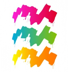 splash and paint colorful vector image
