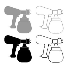 sprayer paint icon outline set grey black color vector image