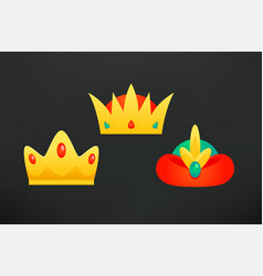 Three kings crowns clipart vector