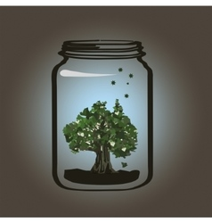 Tree in the jar vector image