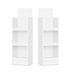Two blank pos display stands vector