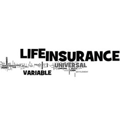 what s the lowdown on variable universal life vector image