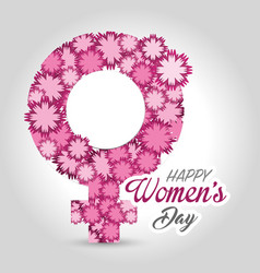 women day card icon vector image