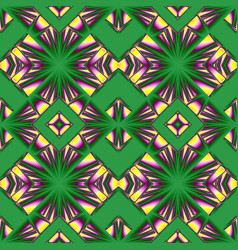 yellow and green seamless pattern vector image