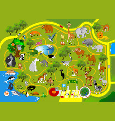 zoo map vector image