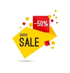 Colorful advertising super sale banner vector image vector image