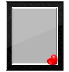 Designer Black Photo Frame with Heart vector image