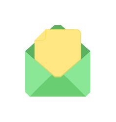 document email message icon vector image