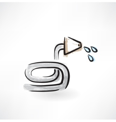 hose grunge icon vector image vector image