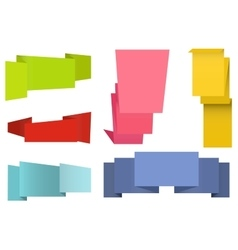Origami labels set vector image