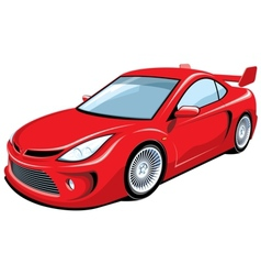 Red sports car vector image