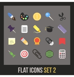 Flat icons set 2 vector image vector image