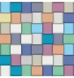 Multicolored paper lattice vector image