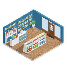 pet shop interior composition vector image