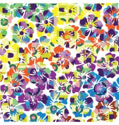 summer floral pattern vector image vector image