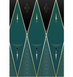 Diamonds Art Deco Background vector image vector image