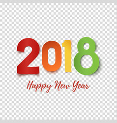 happy new year 2018 design template vector image vector image