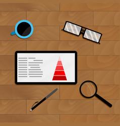 Marketing chart profit on tablet vector