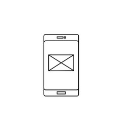 phone mail icon vector image vector image