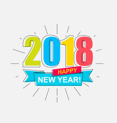 2018 happy new year vector