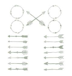 arrow watercolor design elements set vector image