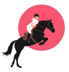 Equestrian sports design vector image