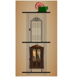 old lift in the context of vector image