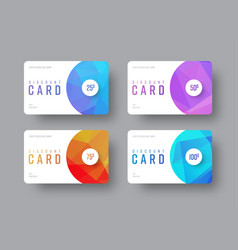 white gift card template with round and vector image