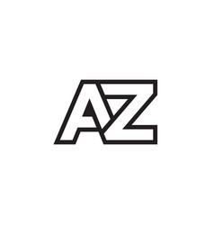 A z lines letter lines logo design vector