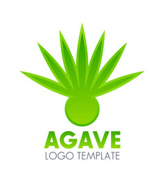 Agave plant logo element over white vector