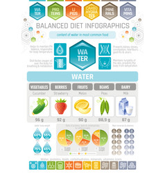 Aqua beverage diet infographic diagram poster vector
