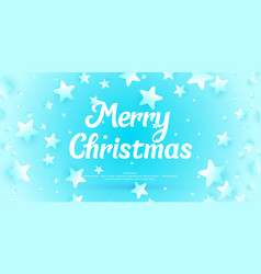 Banner merry christmas in minimalistic style vector