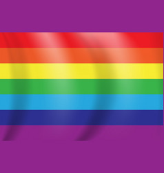 beautiful multicolored rainbow flag eps10 vector image