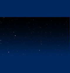 bright stars on dark night sky vector image