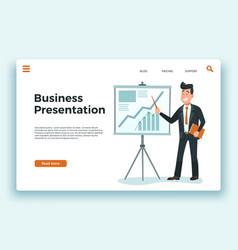 business presentation presenter businessman vector image