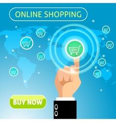 Buy now online shopping concept vector