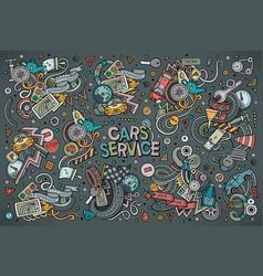 cartoon set of automobile designs vector image