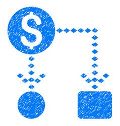 cashflow scheme grunge icon vector image