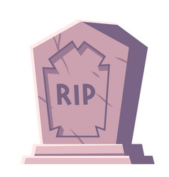 Cemetery tombstone with rip inscription cartoon vector