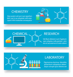 Chemistry lab banners set vector