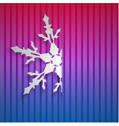 christmas background with big snowflake vector image